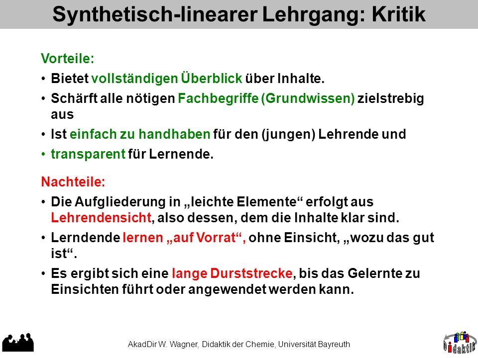 Synthetisch-linearer Lehrgang: Kritik