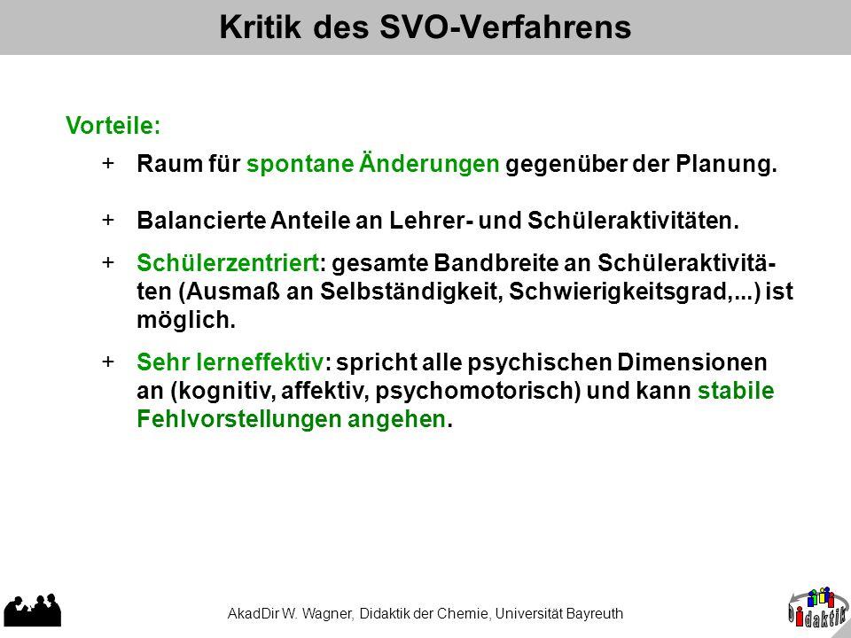 Kritik des SVO-Verfahrens