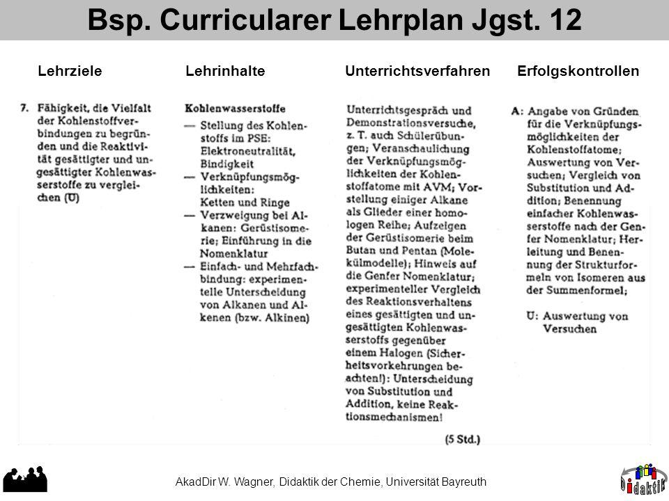 Bsp. Curricularer Lehrplan Jgst. 12