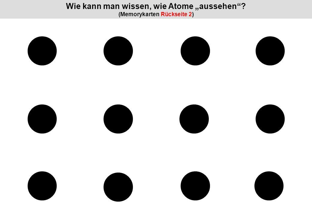 """Wie kann man wissen, wie Atome """"aussehen (Memorykarten Rückseite 2)"""