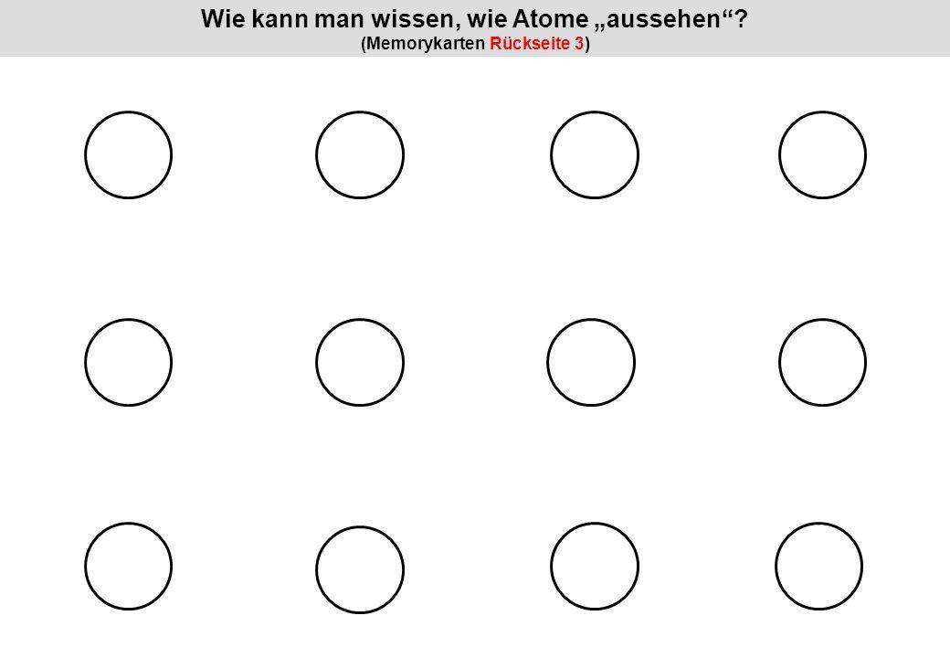 """Wie kann man wissen, wie Atome """"aussehen (Memorykarten Rückseite 3)"""