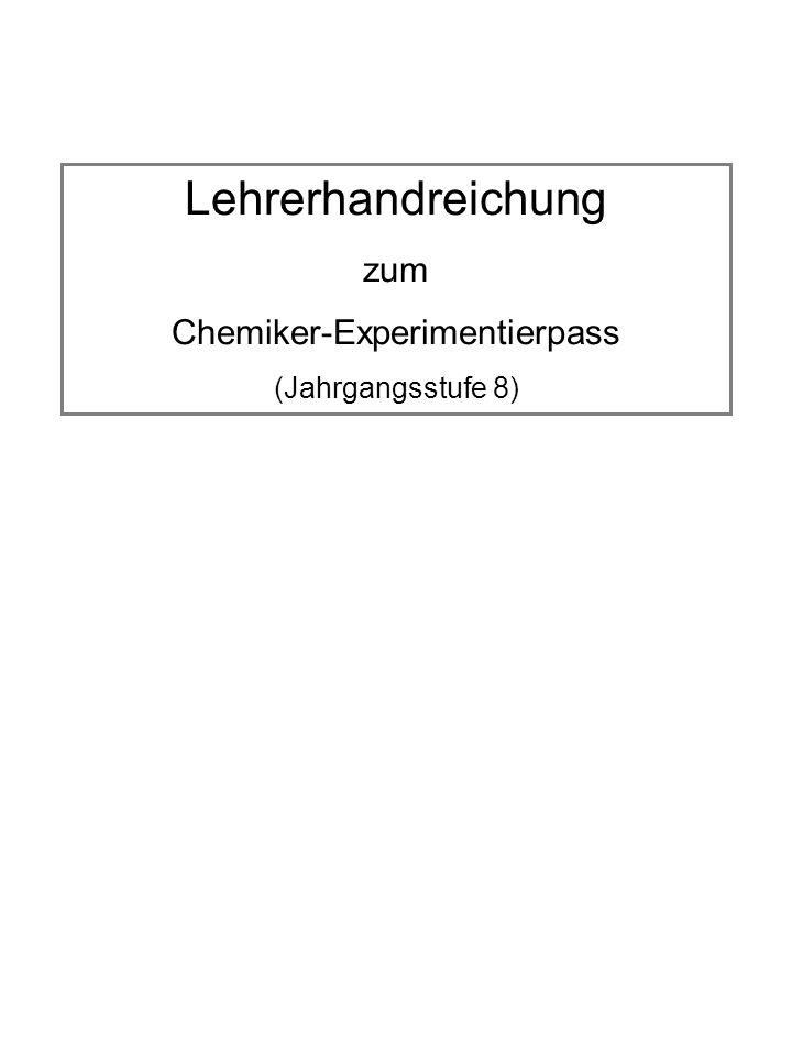 Chemiker-Experimentierpass