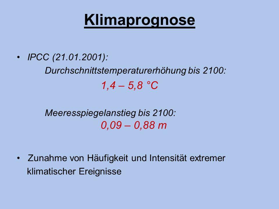 Klimaprognose • IPCC (21.01.2001):