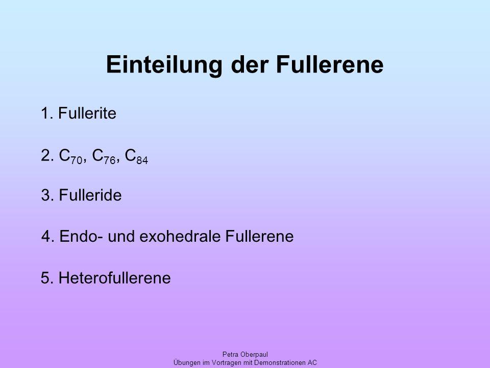 Einteilung der Fullerene