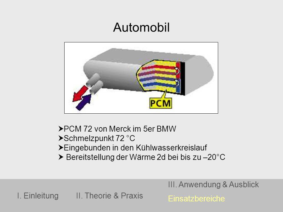 Automobil PCM 72 von Merck im 5er BMW Schmelzpunkt 72 °C