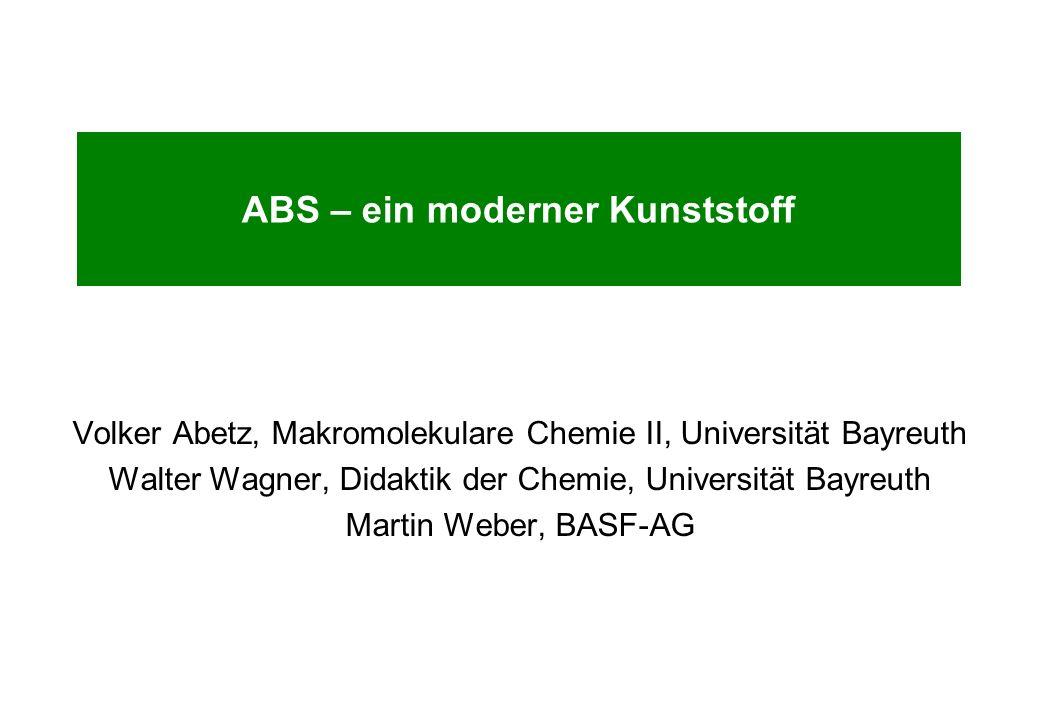 ABS – ein moderner Kunststoff