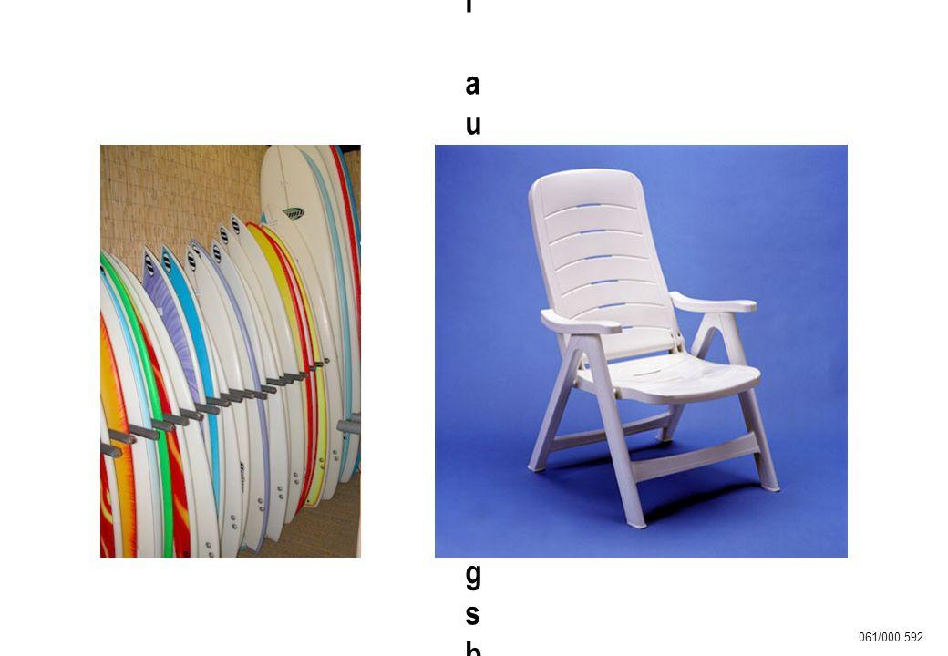 Surfbretter und Freizeitmöbel aus witterungsbeständigem ASA