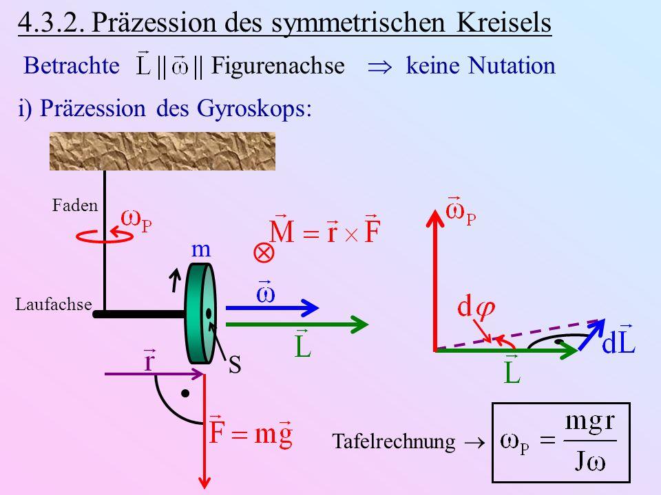 4.3.2. Präzession des symmetrischen Kreisels