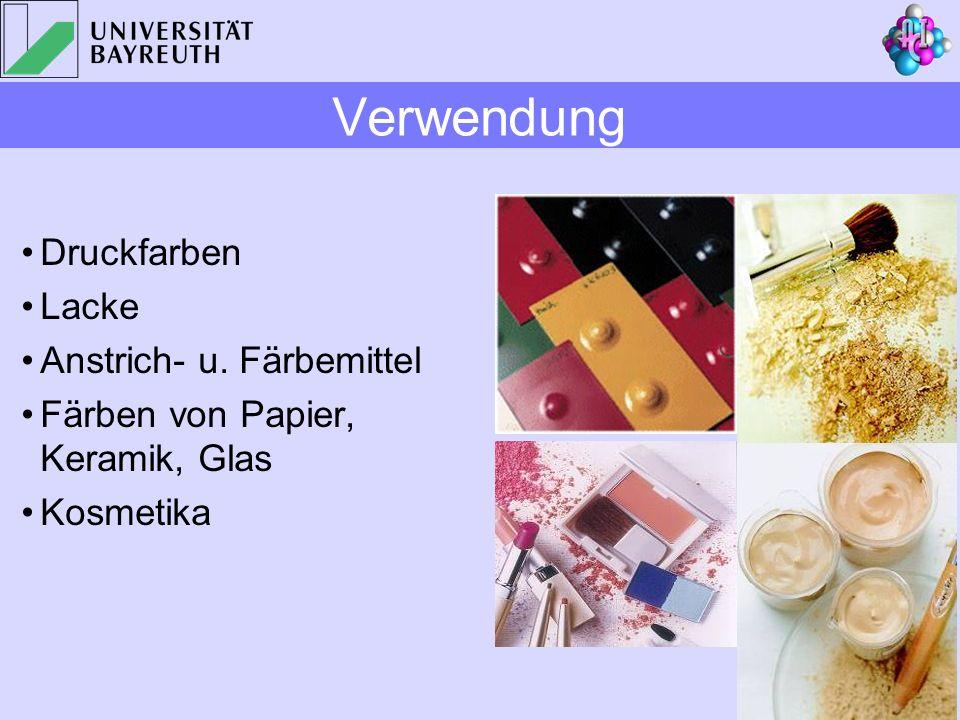 Verwendung Druckfarben Lacke Anstrich- u. Färbemittel
