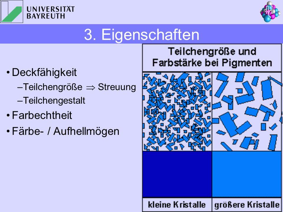3. Eigenschaften Deckfähigkeit Farbechtheit Färbe- / Aufhellmögen