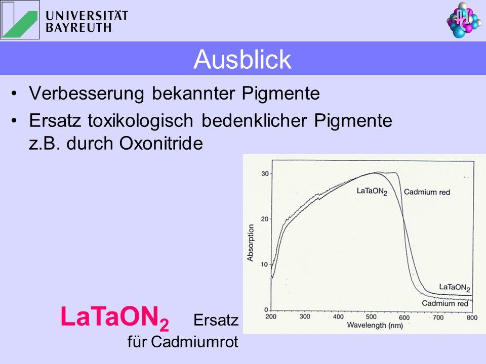 LaTaON2 Ersatz für Cadmiumrot