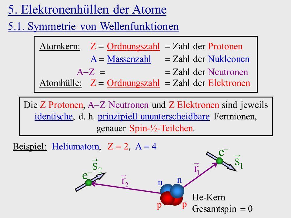 5. Elektronenhüllen der Atome