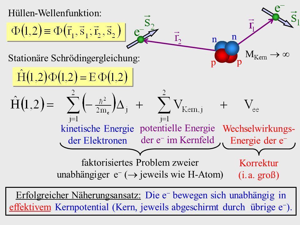 e n p MKern   Hüllen-Wellenfunktion:
