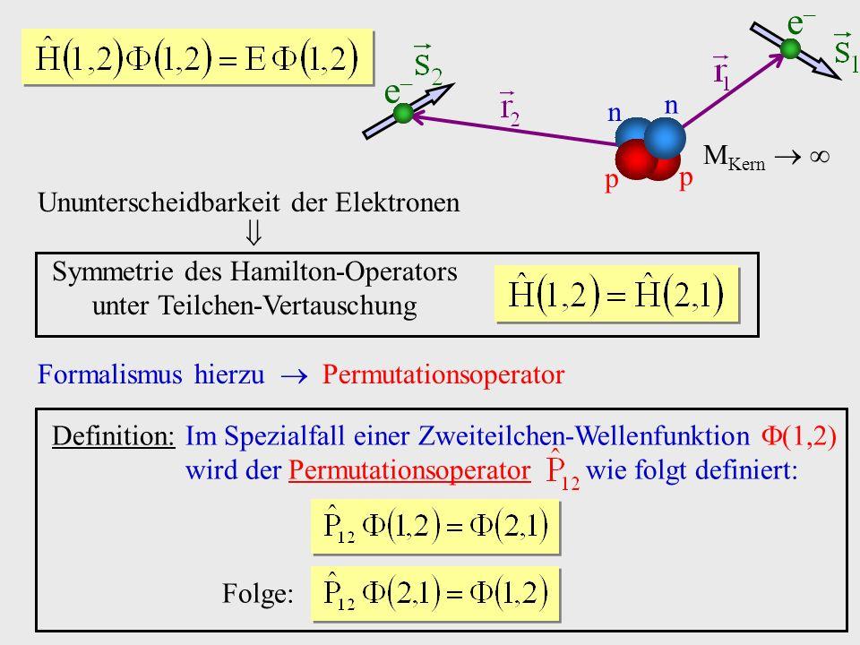 Symmetrie des Hamilton-Operators unter Teilchen-Vertauschung