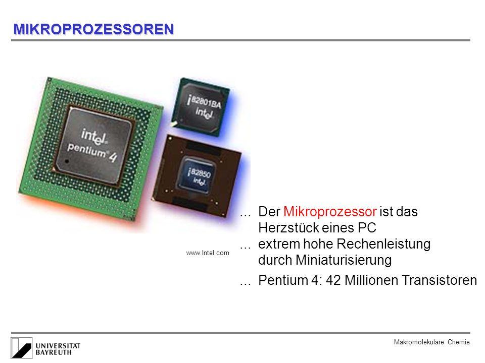 MIKROPROZESSOREN ... Der Mikroprozessor ist das Herzstück eines PC