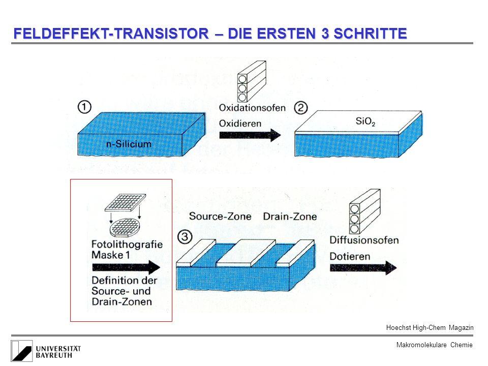 FELDEFFEKT-TRANSISTOR – DIE ERSTEN 3 SCHRITTE