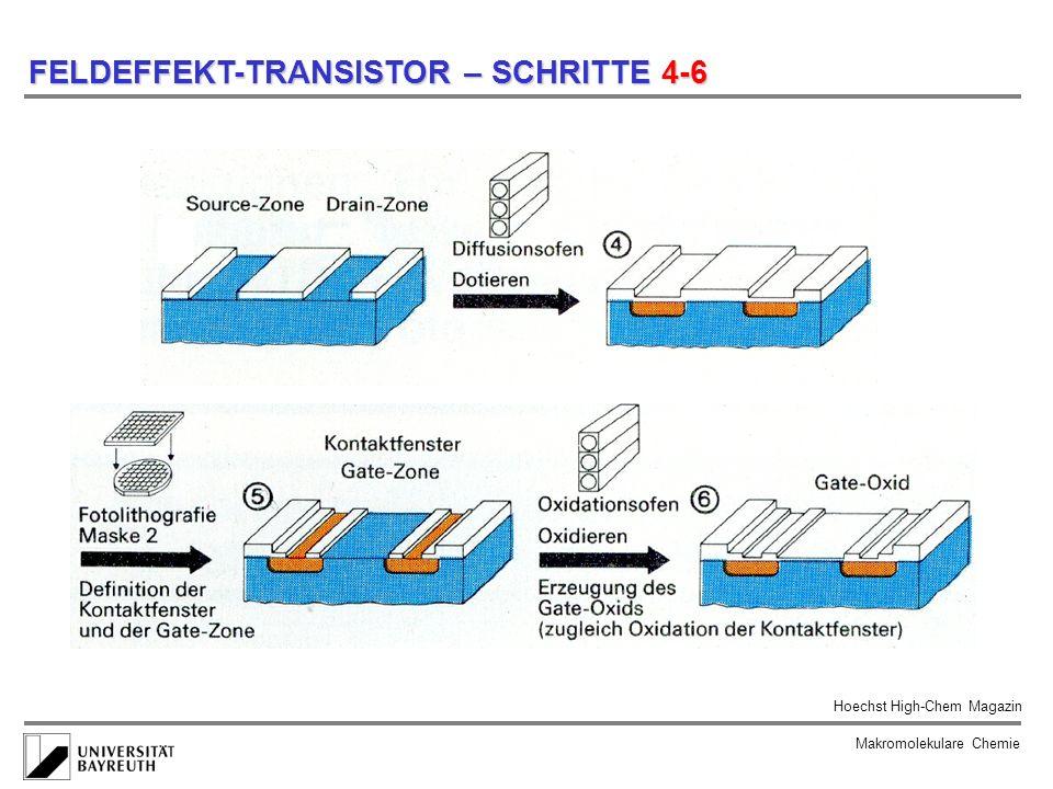 FELDEFFEKT-TRANSISTOR – SCHRITTE 4-6
