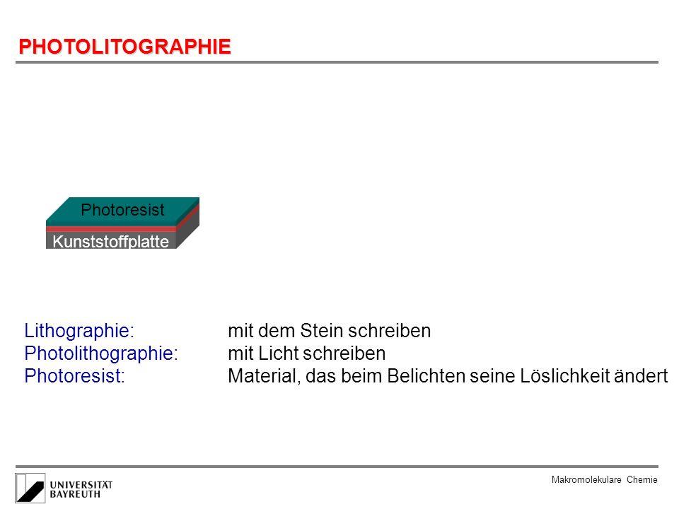 PHOTOLITOGRAPHIE Lithographie: mit dem Stein schreiben