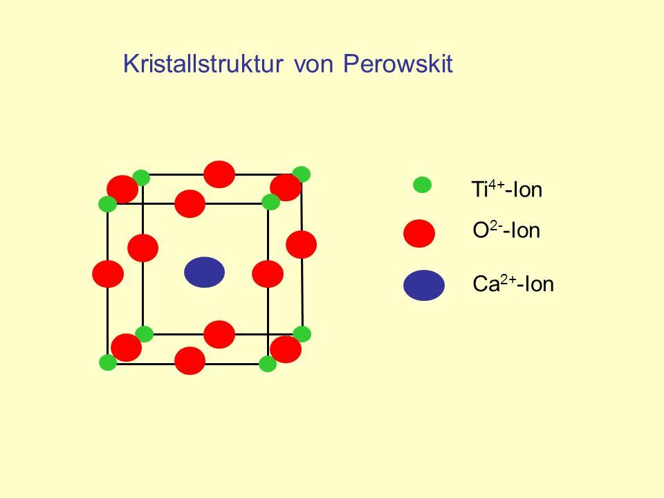 Kristallstruktur von Perowskit