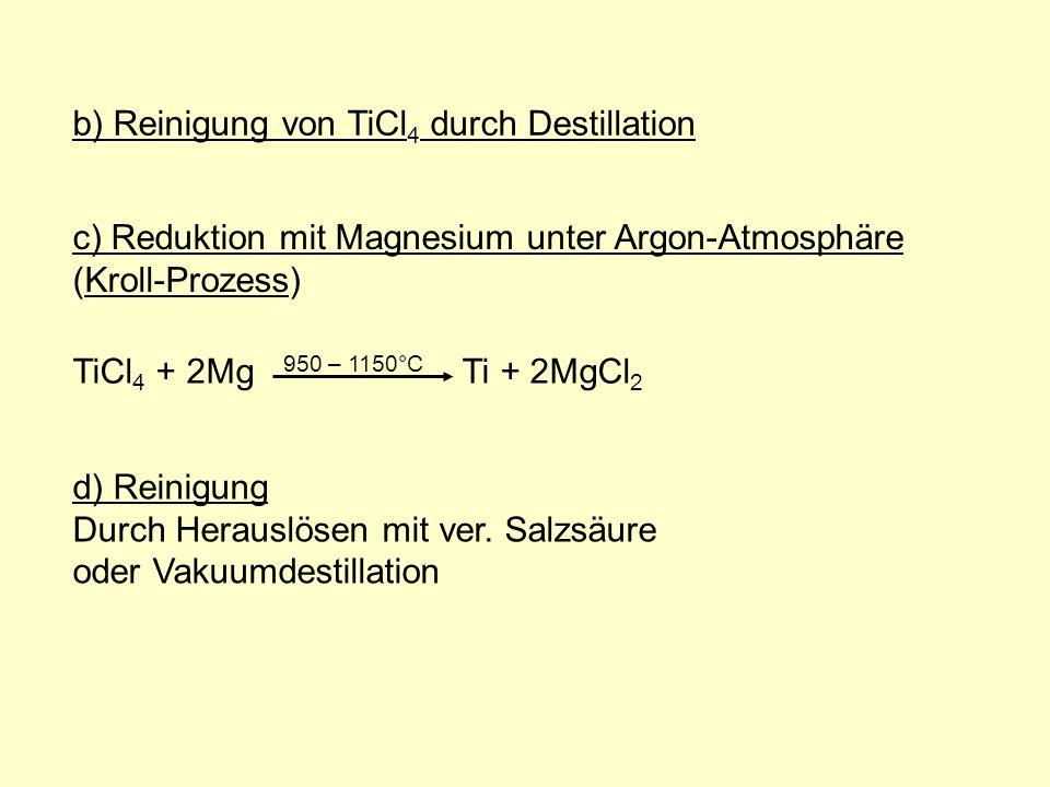 b) Reinigung von TiCl4 durch Destillation