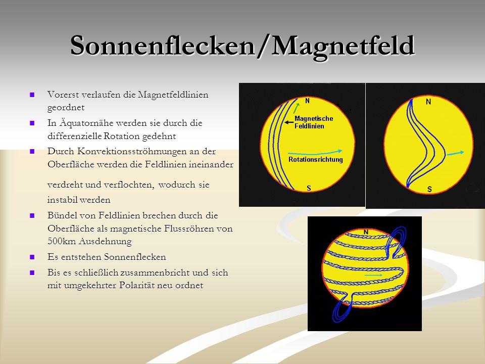 Sonnenflecken/Magnetfeld