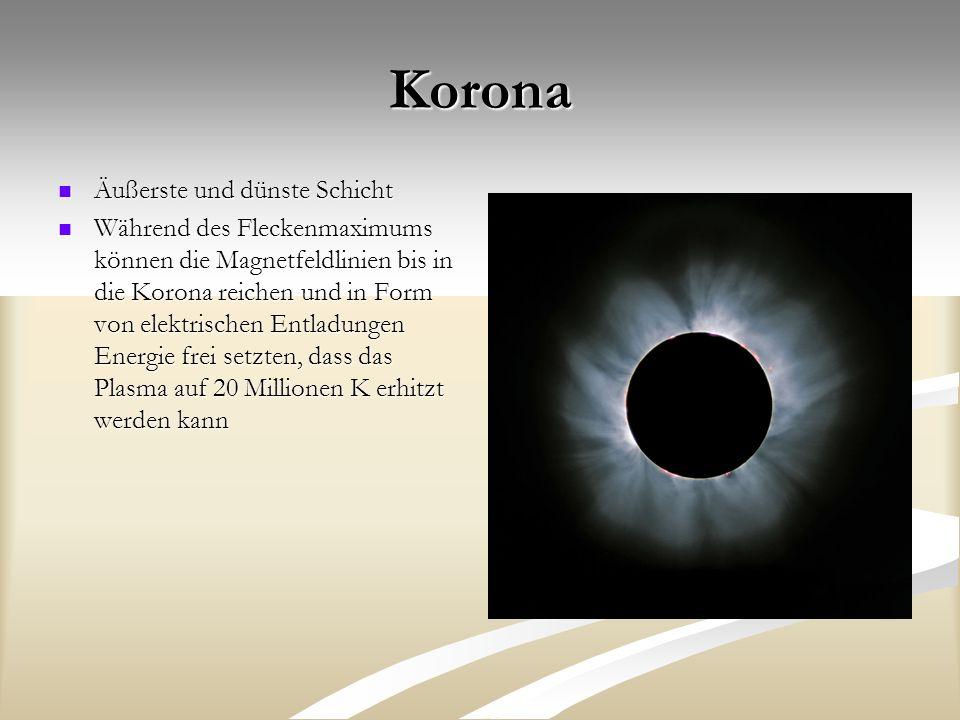 Korona Äußerste und dünste Schicht