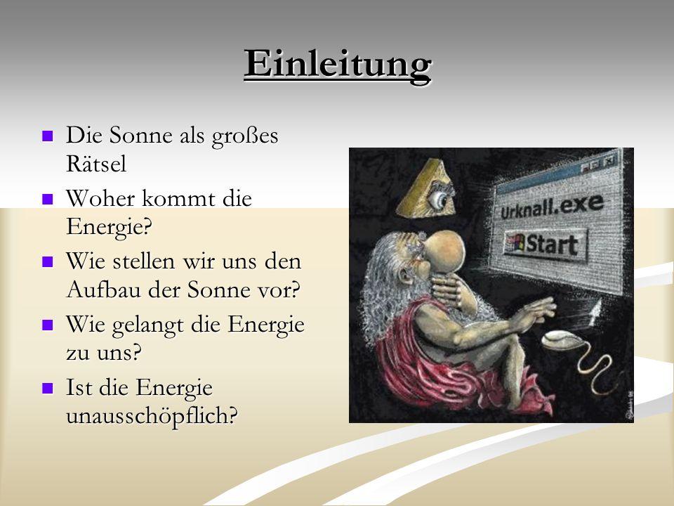 Einleitung Die Sonne als großes Rätsel Woher kommt die Energie