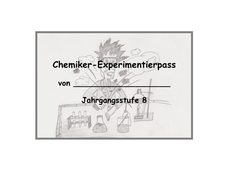 Chemiker-Experimentierpass von _________________________