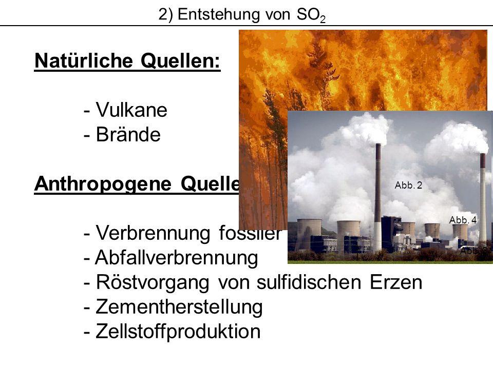 Anthropogene Quellen: - Verbrennung fossiler Brennstoffe