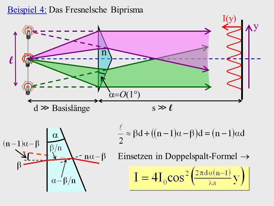 Einsetzen in Doppelspalt-Formel 