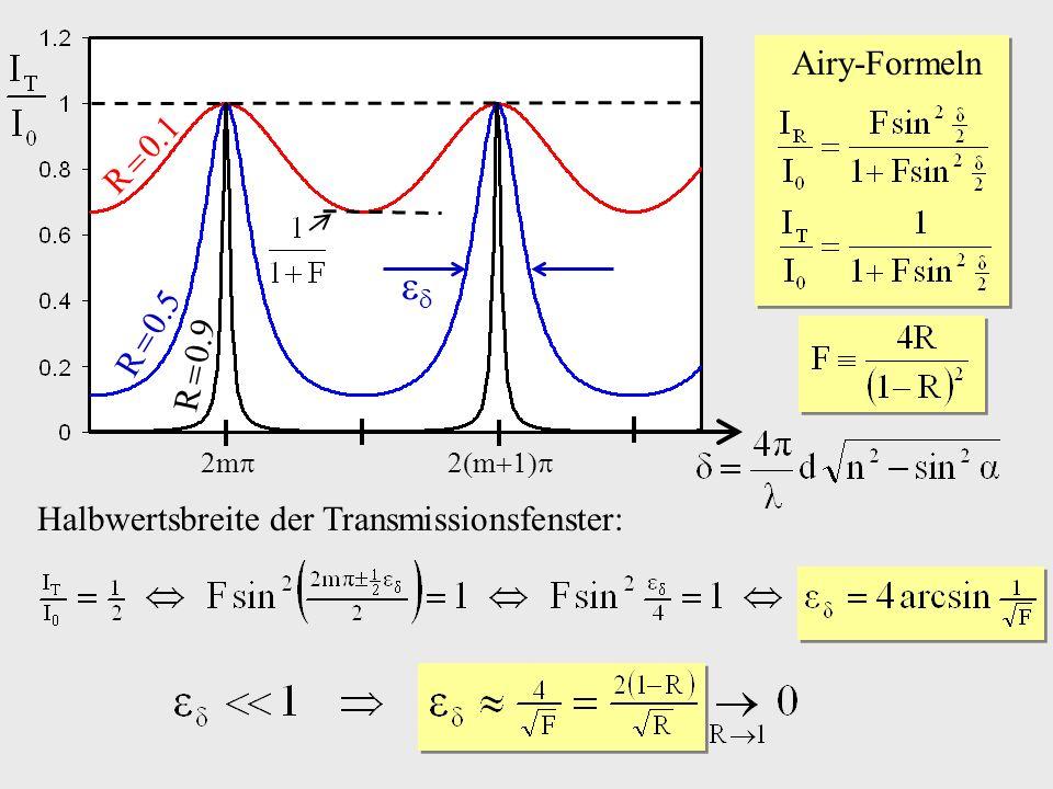  Airy-Formeln R  0.1 R  0.5 R  0.9