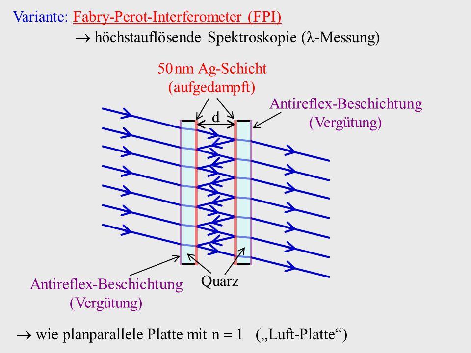 Variante: Fabry-Perot-Interferometer (FPI)