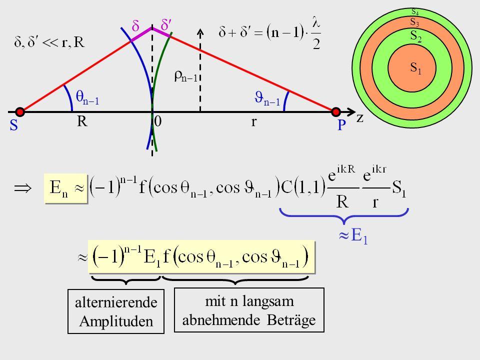  E1 n1 n1 n1 z S P R r   alternierende Amplituden