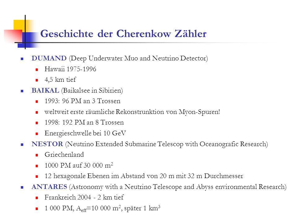 Geschichte der Cherenkow Zähler