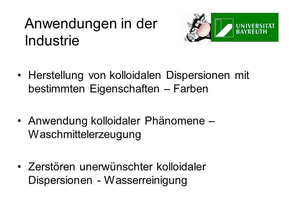 Anwendungen in der Industrie