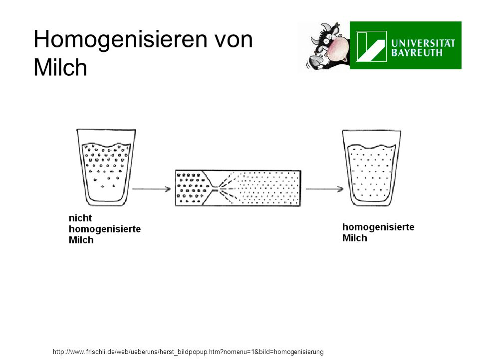 Homogenisieren von Milch