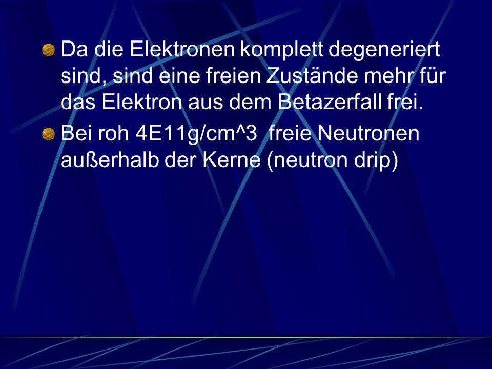Bei roh 4E11g/cm^3 freie Neutronen außerhalb der Kerne (neutron drip)