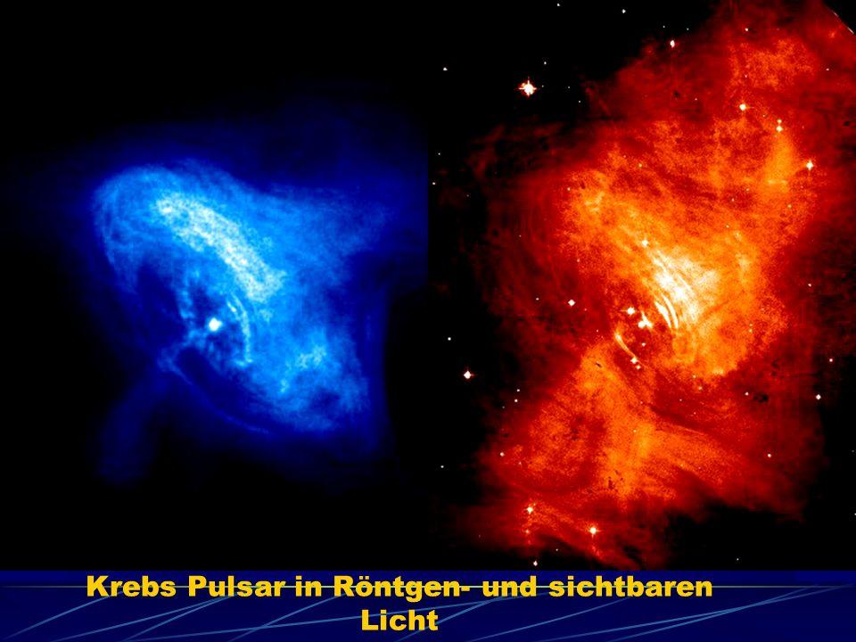Krebs Pulsar in Röntgen- und sichtbaren Licht