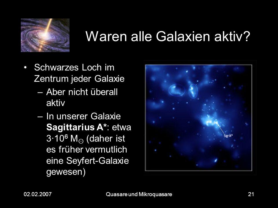 Waren alle Galaxien aktiv