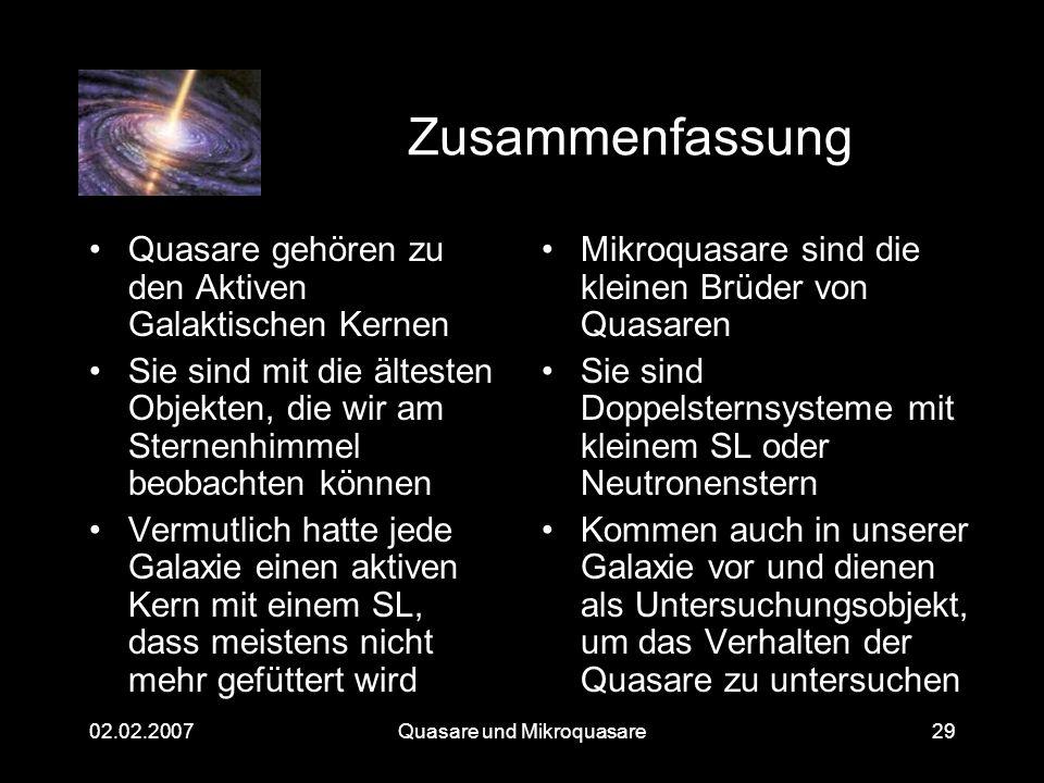 Quasare und Mikroquasare