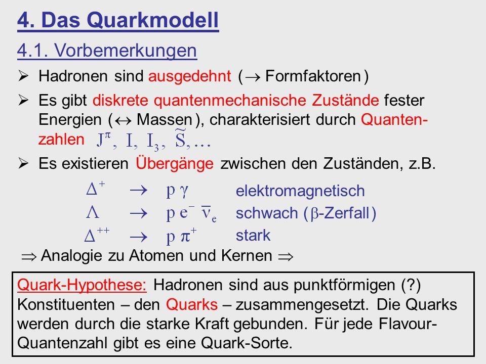 4. Das Quarkmodell 4.1. Vorbemerkungen