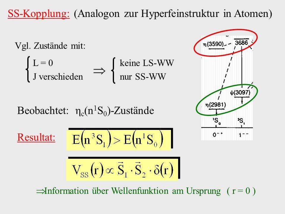  SS-Kopplung: (Analogon zur Hyperfeinstruktur in Atomen)