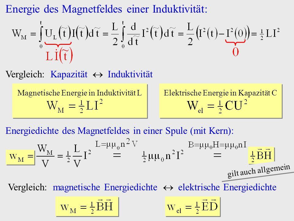 Energie des Magnetfeldes einer Induktivität: