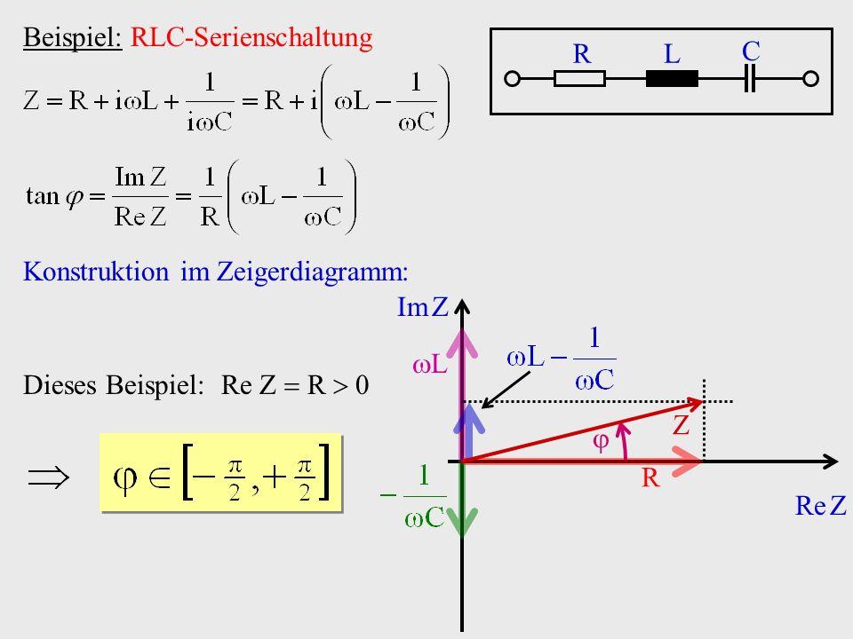 Beispiel: RLC-Serienschaltung