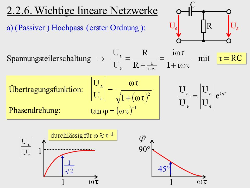 2.2.6. Wichtige lineare Netzwerke