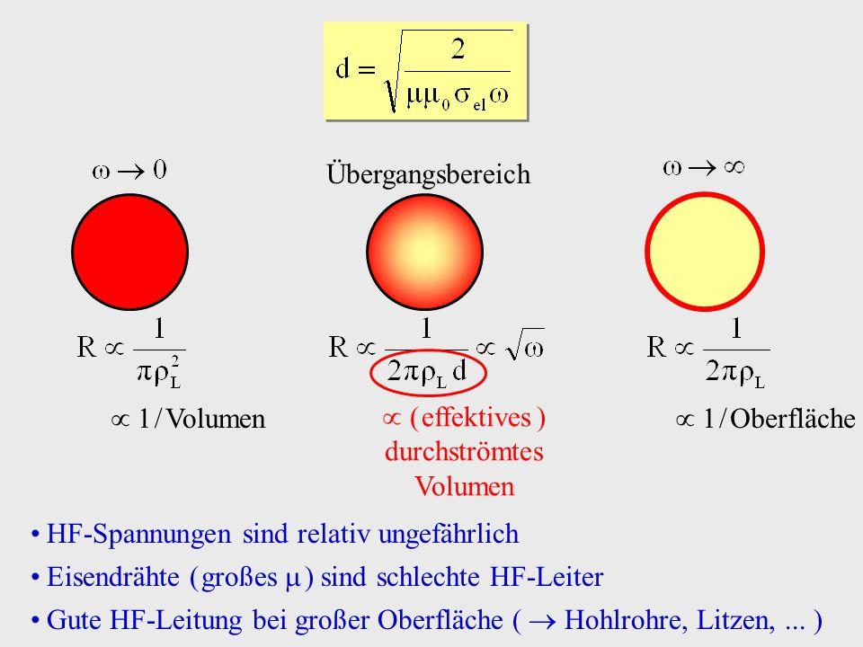  ( effektives ) durchströmtes Volumen