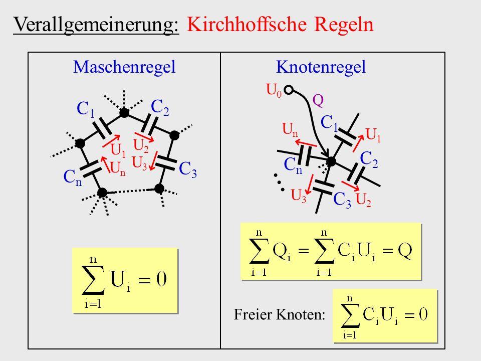 ... Verallgemeinerung: Kirchhoffsche Regeln Maschenregel Knotenregel