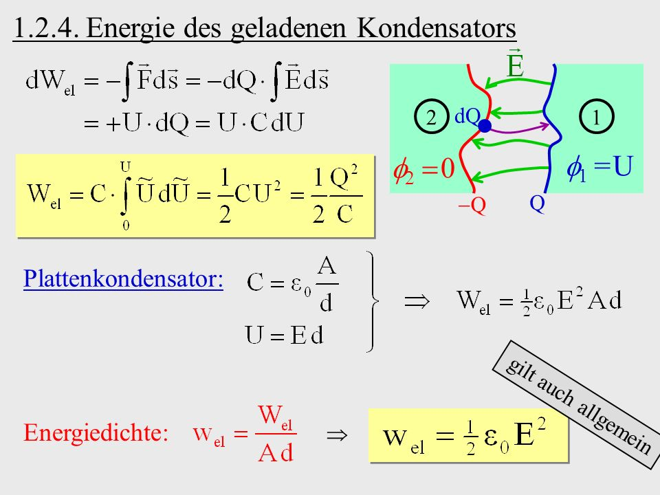 1.2.4. Energie des geladenen Kondensators