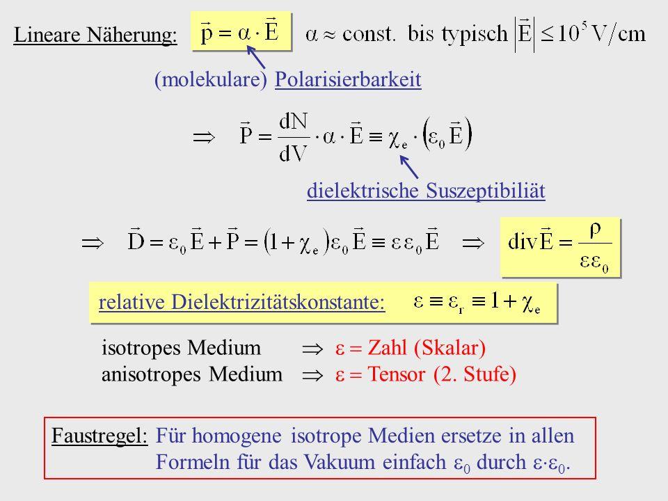(molekulare) Polarisierbarkeit