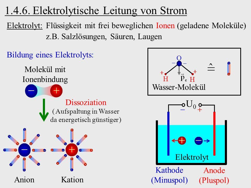 1.4.6. Elektrolytische Leitung von Strom